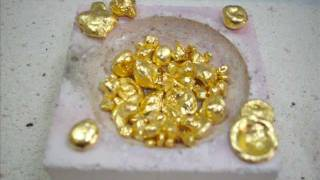 Repeat youtube video Reducing Gold from Chloroauric Acid with Oxalic Acid