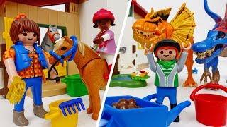 Dinosaurs Appeared In A PeaceFul Pony Farm~! Help Us Unicorn #ToyMartTV