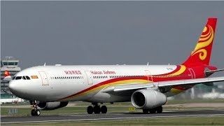 Hainan Airlines Airbus A330 Take Off at Manchester Airport