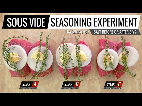 Get Sous Vide SEASONING EXPERIMENT - Should you SALT BEFORE OR AFTER Sous Vide? Images