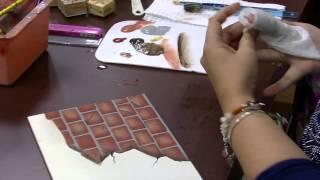 Pintura com imitação de tijolinho – Mara Fernandes – PT 2