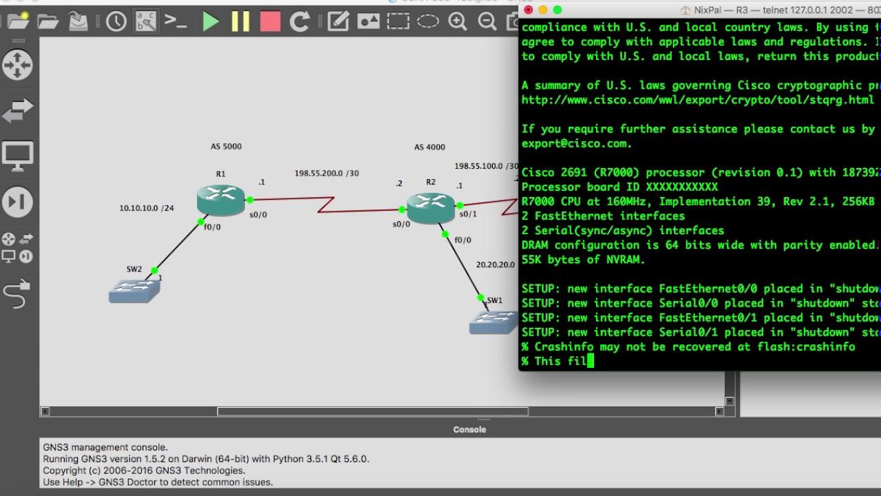 BGP Configuration on Cisco IOS. - YouTube
