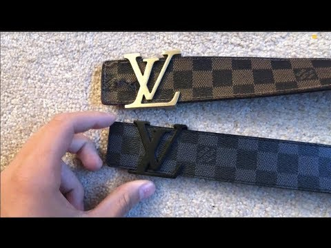 cbc51a8de8fb Real Vs Fake Louis Vuitton Belt (How To Spot Fakes) - YouTube