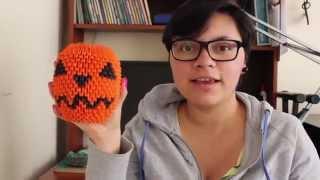 Calabaza De Halloween / Halloween Pumpkin Origami 3D TUTORIAL!