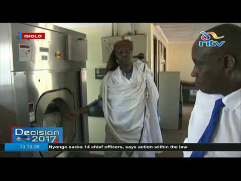 Isiolo governor Mohamed Kuti  makes an impromptu visit to the County referral hospital