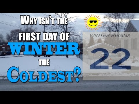 The First Day Of Winter Isn't The Coldest? What Is Seasonal Lag?