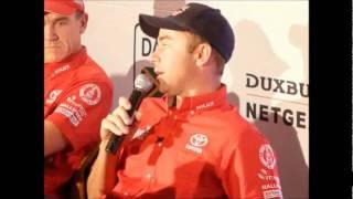 Toyota press conference  - Post Dakar Rally 2012