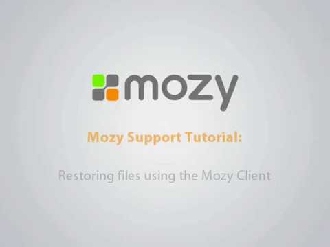 Restoring Files Using The Mozy Client