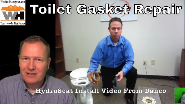 HydroSeat Toilet Flange Replacement Repair installation Video: By The  Weekend Handyman