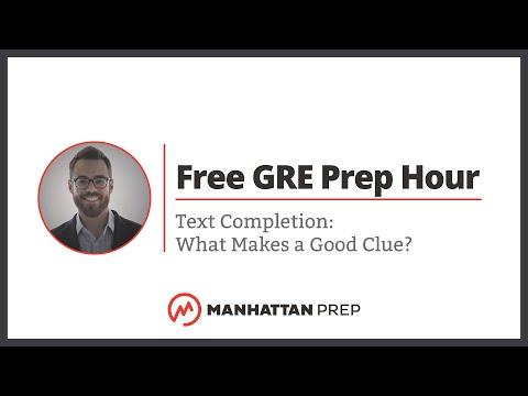 Free GRE Prep Hour: 1/31/2018 | Manhattan Prep