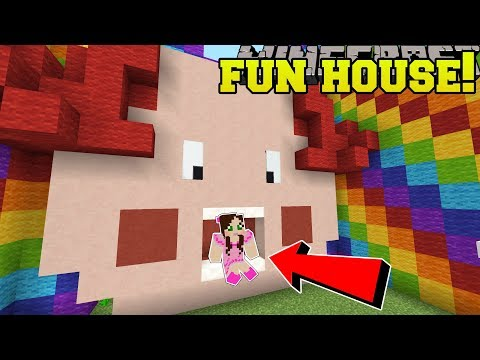 Minecraft: MR RAINBOWS FUN HOUSE!!!  FIND THE BUTTON 2018  Custom Map