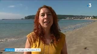 Les plages du Finistère Sud - La plage de l'Aber sur la presqu'île de Crozon