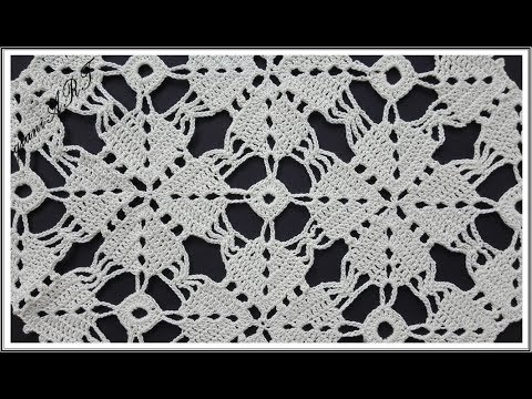 Crochet Square TABLECLOTH motif and How to Join