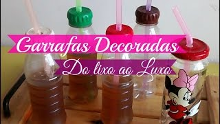 GARRAFAS PET DECORADAS DO LIXO AO LUXO