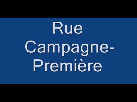 Rue Campagne Première Paris Arrondissement  14e