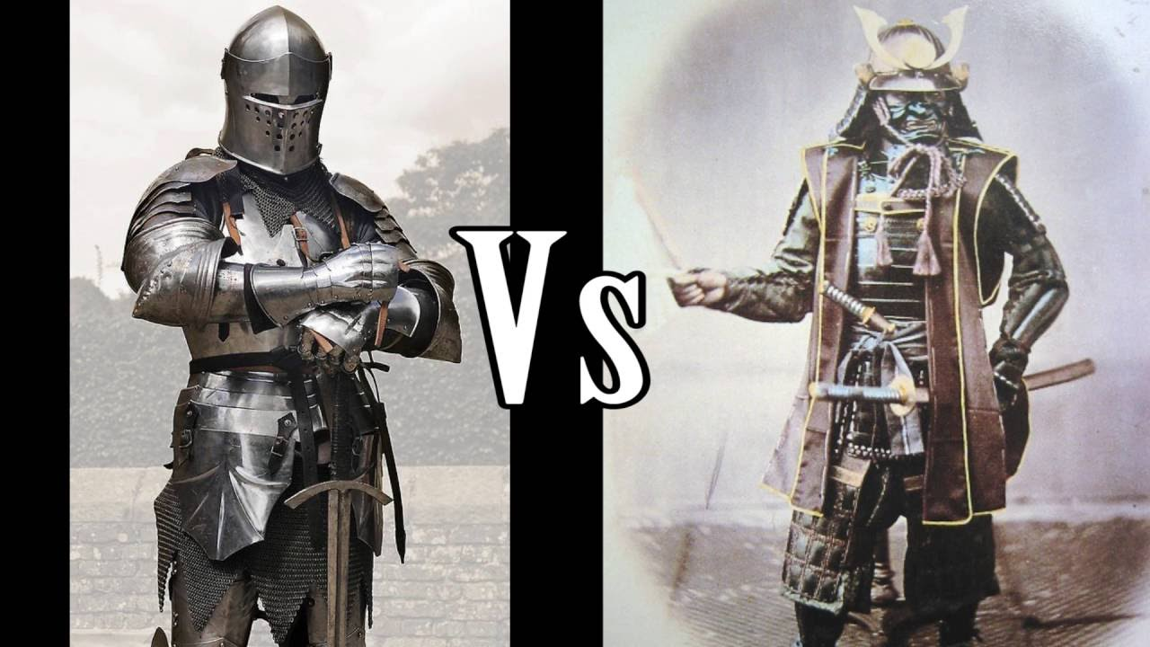 samurai vs knight A comparative video based on accademic research here i shall examine the european knight and compare his weapons armours and fighting style with that of the japanese samurai.