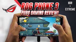 ROG PHONE 3 PUBG MOBILE GAMEPLAY REVIEW! MONSTER!! HDR, HANDCAM, CLAW, GYRO! 60FPS!