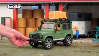 Land Rover Defender Station Wagon mit Pferdeanhänger -- 02592 -- BRUDER Spielwaren