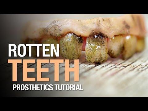 Rotten teeth halloween tutorial