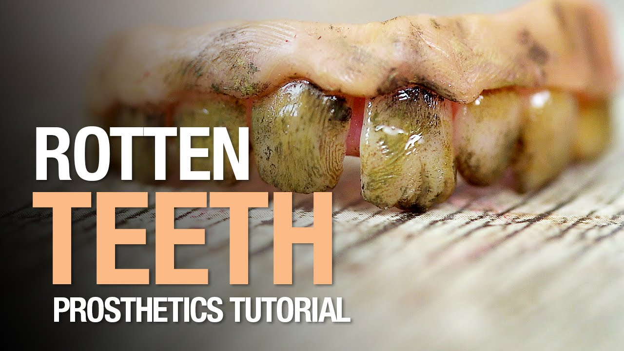 rotten teeth halloween tutorial - youtube, Human Body