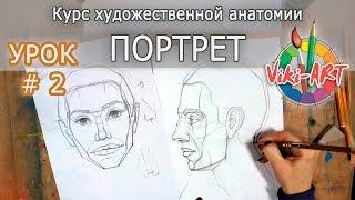 Как нарисовать портрет: ПОЛНЫЙ РАЗБОР! Урок 2: Профиль. Основы построения. Рисуем вместе с Viki-ART.