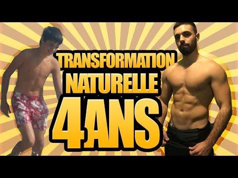 TRANSFORMATION NATURELLE MUSCULATION: AVANT /APRES