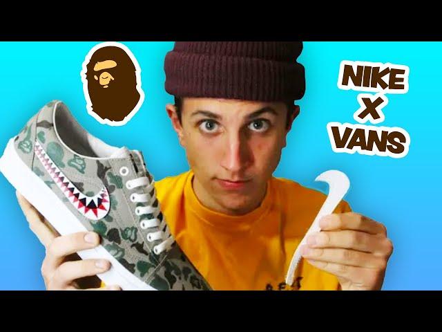 Diplomático cocinar Activo  NIKE X VANS - Bape Custom Shoes! [ DIY ] - YouTube