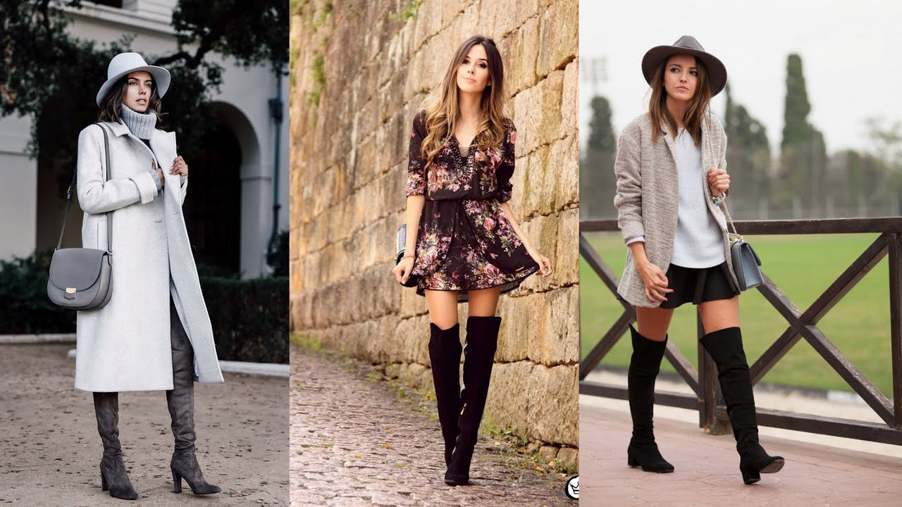 8b80dd09b64b 20 Stylish Ways to Wear Suede Over-The-Knee Boots - YouTube