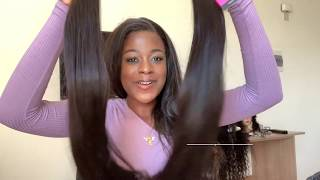 BEST LONG FRONTAL  STRAIGHT HAIR ON ALIEXPRESS: unboxing/review MISS CARA HAIR