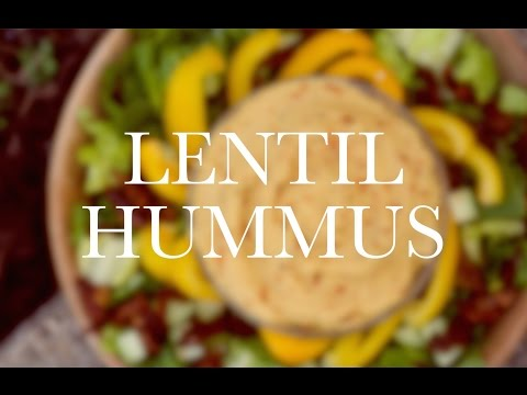 LENTIL HUMMUS vegan lower fat alternative