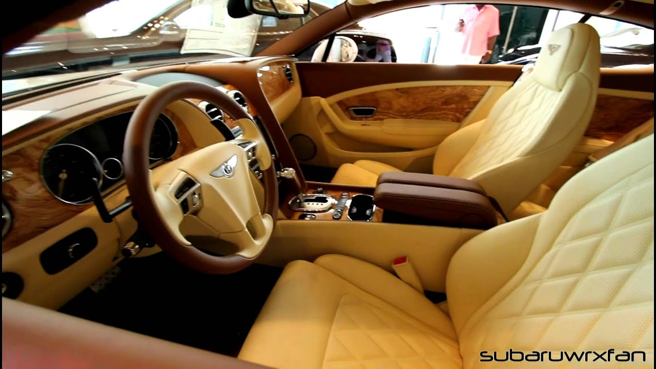 New bentley continental gt with interesting interior youtube vanachro Choice Image