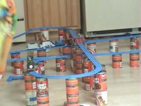 homemade thomas train track youtube. Black Bedroom Furniture Sets. Home Design Ideas