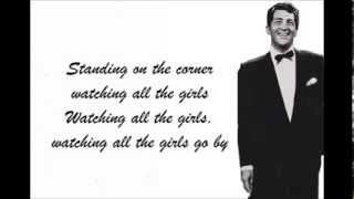Dean Martin - Standing on the corner with lyrics