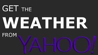 How to use the Yahoo! weather API screenshot 2