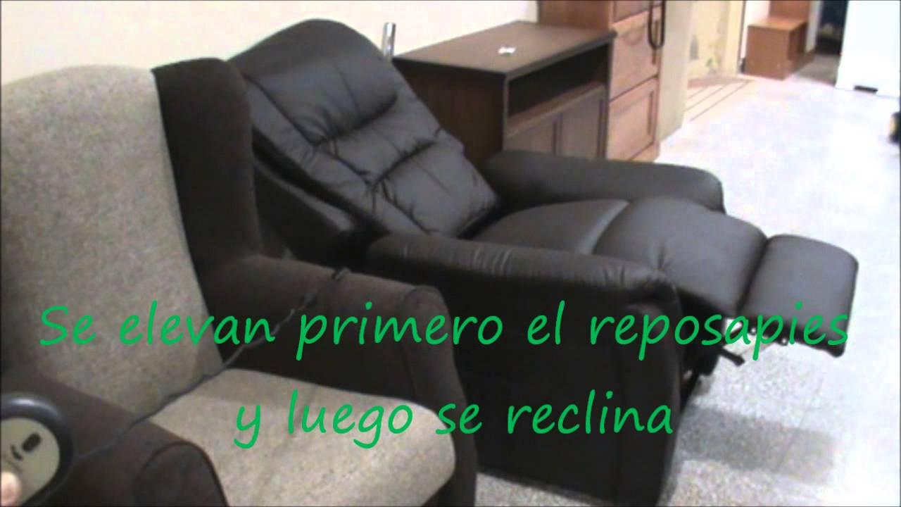 Sillon relax electrico levanta personas  YouTube