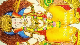 Ganesh chaturthi special ganpati drawing and painting of lalbaugh cha raja