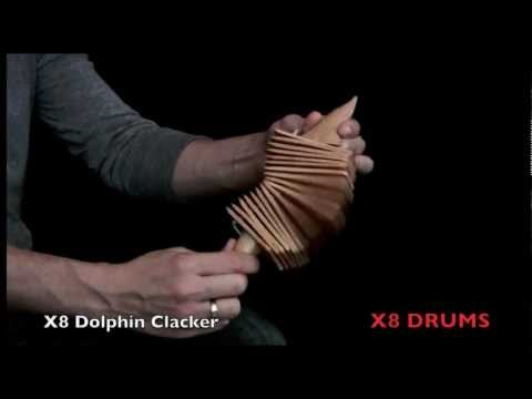 X8 Drums Dolphin Wooden Clacker Percussion Instrument