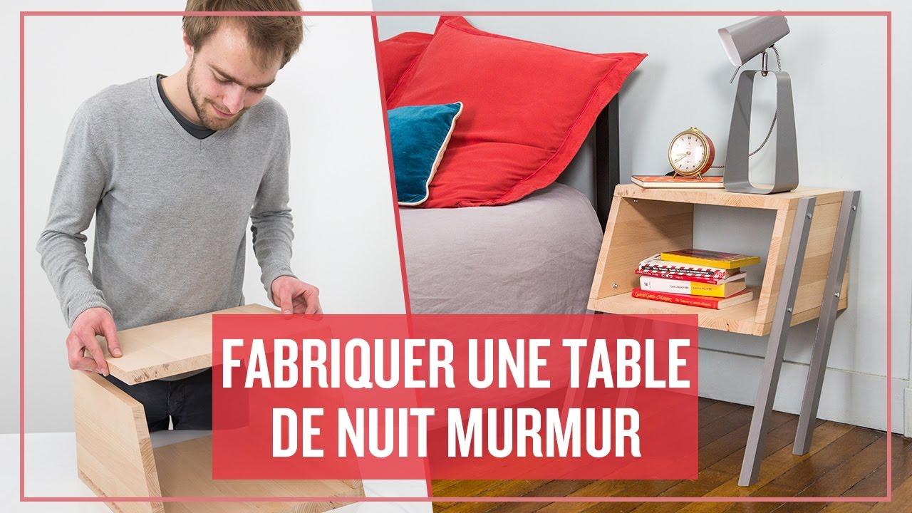 fabriquer une table de chevet stunning table de chevet. Black Bedroom Furniture Sets. Home Design Ideas