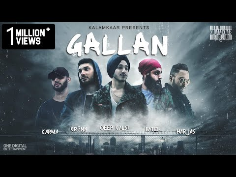 GALLAN (FULL VIDEO) | DEEP KALSI, FATEH, KR$NA, HARJAS, KARMA | (NO DAYS OFF - EP) | KALAMKAAR