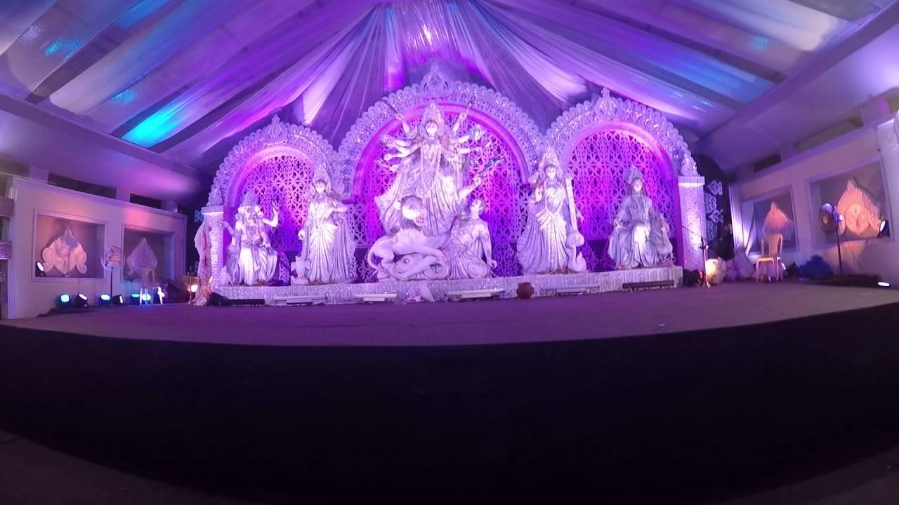 Lokhandwala durgotsav durga puja 2016 pandal decoration youtube thecheapjerseys Choice Image