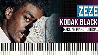 How To Play: Kodak Black ft. Travis Scott & Offset - ZEZE | Piano Tutorial