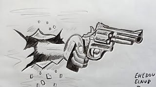 How To Draw a Pistol 3d(Ehedov Elnur)Как рисовать пистолет револьвер-Como dibujar un revolver(How To Draw a Pistol 3d(Ehedov Elnur)Как рисовать пистолет револьвер-Como dibujar un revolver_Silah sekli nece cekilir Production Music courtesy of ..., 2016-06-06T18:01:00.000Z)