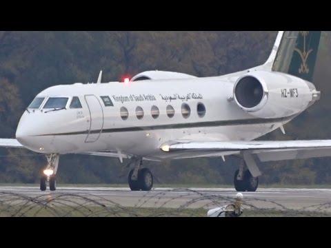 [FullHD] Saudi Ministry of Finance Gulfstream IV takeoff at Geneva/GVA/LSGG