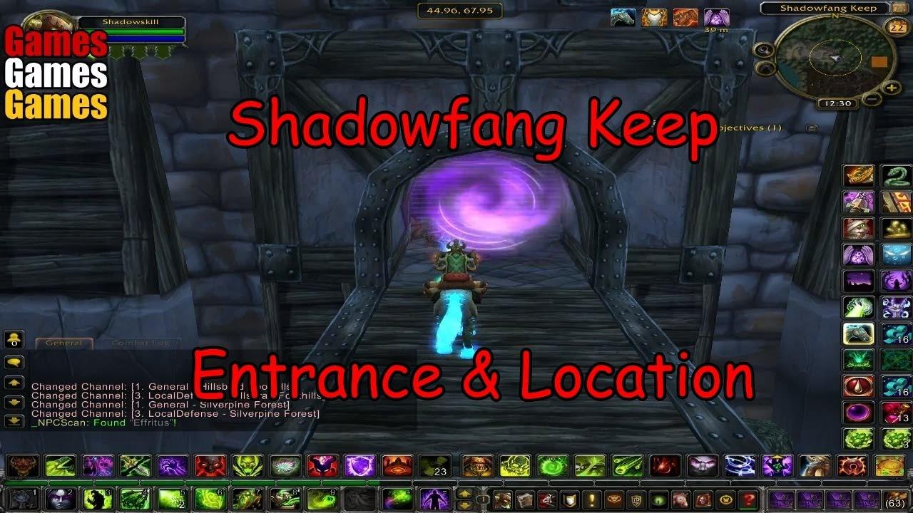 shadowfang keep entrance location world of warcraft original dungeons youtube. Black Bedroom Furniture Sets. Home Design Ideas