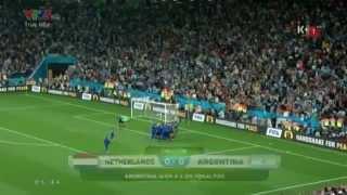 Loạt penalty cân não giữa 2 đội tuyển Hà Lan và Argentina - WC 2014
