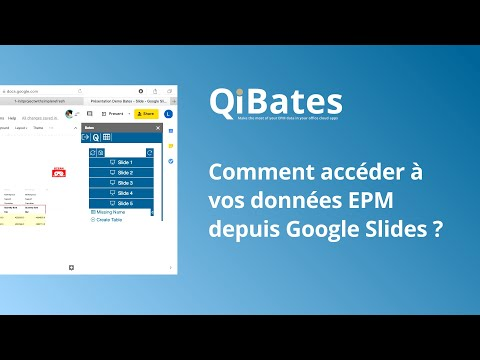 Comment accéder à vos données EPM depuis Google Slides ?