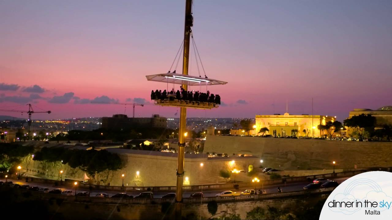 Dinner In The Sky Malta YouTube - Dinner in the sky an unforgettable experience