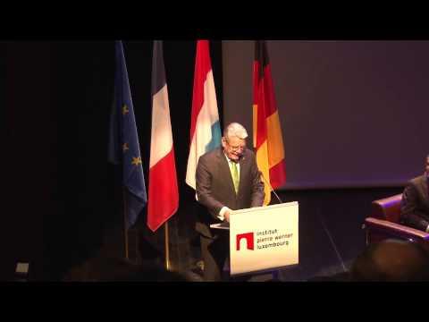 Institut Pierre Werner - Staatsbesuch des Präsidenten der Bundesrepublik Deutschland - 04.11.2014