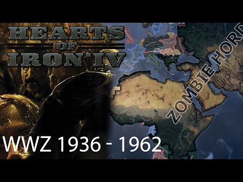 Hearts of Iron 4 - Zombie Horde Timelapse (1936 - 1962)