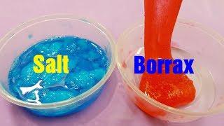 Salt Slime vs Borax Slime